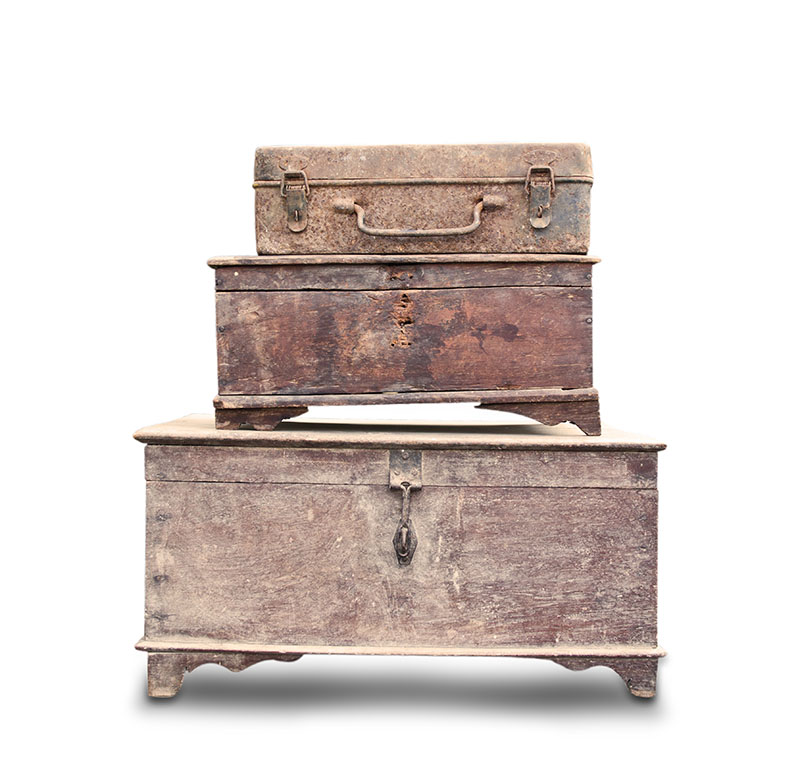 Viejos muebles de madera
