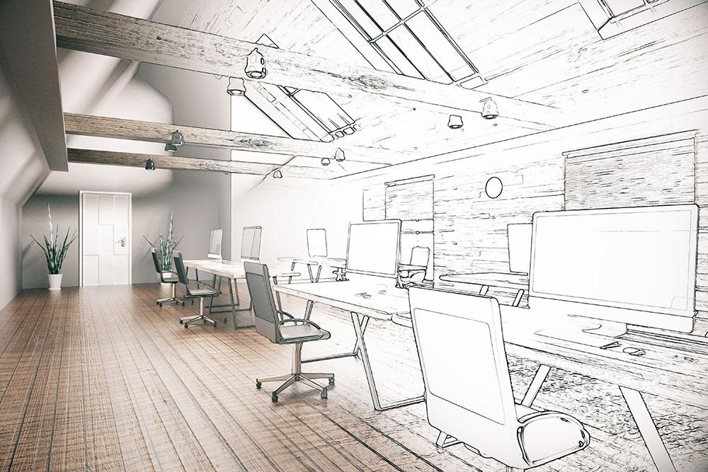 Diseño de interior de oficina