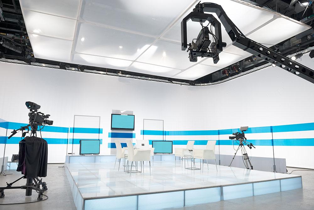 Diseño de estudio de televisión