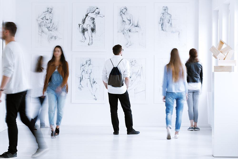 Organización de exposición de arte